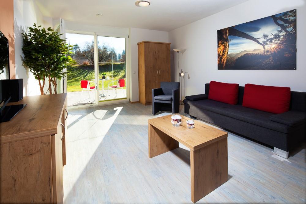 Ferienwohnung Kehlstein mit 1 Schlafzimmer und Terrasse, rollstuhlgerecht