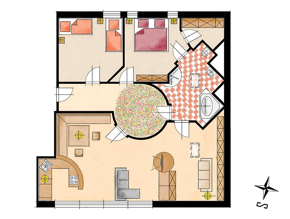 Grundriss Wohnung Hochkalter
