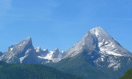 Panorama-Bergblick aus Ferienwohnungen Haus Hirschau bei Hans Angerer in Strub bei Berchtesgaden